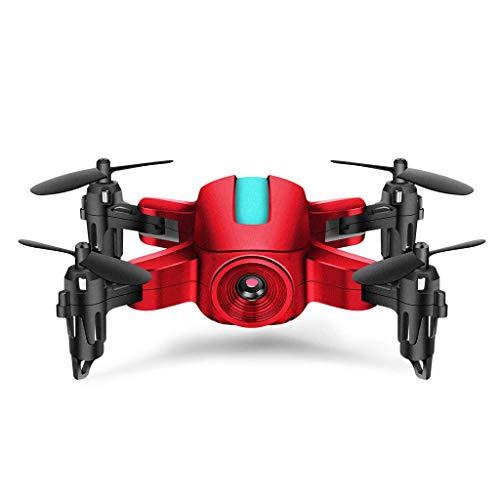 ZHCJH RC Mini Drone 720P Cámara HD, Control Remoto Plegable Quadrocopter WiFi FPV Micro Pocket RC Helicóptero Juguetes, 1080p Rojo