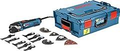 Bosch Professional Multi-Tool GOP 40-30 (incl. 9xStarlock BIM duikzaagbladen, Starlock Carbid RIFF slijpplaat, Starlock delta slijpplaat, 5x slijpbladen, in L-Boxx 136*
