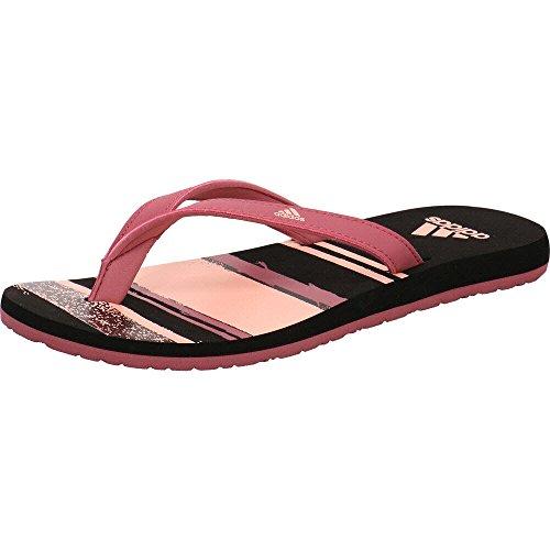 adidas Damen Eezay Flip Flop Dusch-& Badeschuhe, Mehrfarbig (Trace Maroon/Clear Orange/Core Black 0), 38 EU
