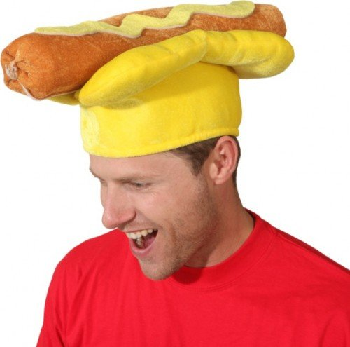 Divertente cappello hot dog per gli adulti