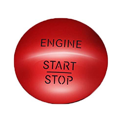 YYAN Ajuste para Mercedes-Benz CL550 Coupe 2010-2014 interruptor de botón de motor, color rojo duradero