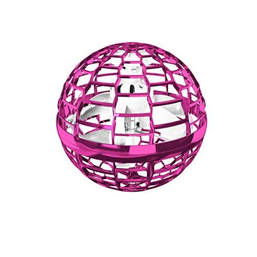 Bumerang-Spinner Flying Toy Drones Hände frei Ball Drohne Hubschrauber für Kinder/Freunde Fliegendes Spielzeug, Kugelform Magischer Controller Mini Drohne Flugspielzeuge Fliegender Spinner (Rosa-A)