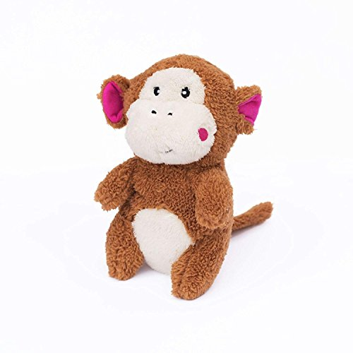 ZippyPaws - Cheeky Chumz Super Soft Squeaker Plush Dog Toy with Unique Sound - Monkey