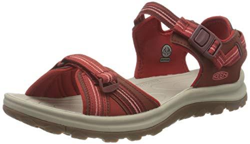 KEEN Damen Terradora 2 Open Toe Sandale, Dunkelrot Koralle, 40.5 EU
