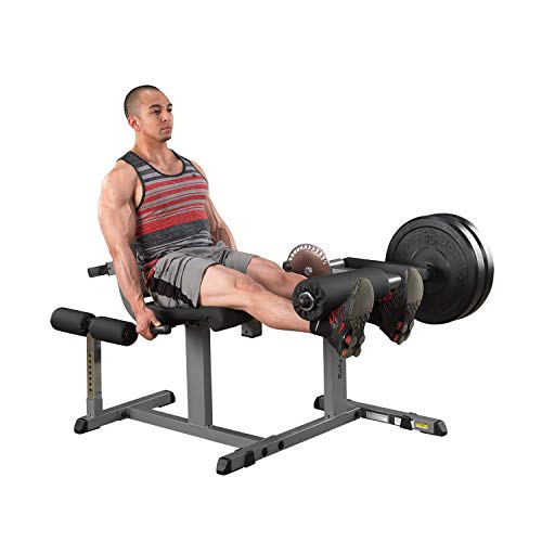 Body-Solid GCEC340 Cam Series Leg Extension and Curl Machine with Adjustable Seat, Hamstring Exerciser