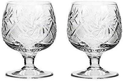 Set Tulsa Mall of 2 Hand Made Max 88% OFF Vintage Glasses Snif Brandy Crystal Cognac