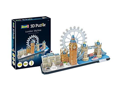 Revell- Horizonte de Londres, Ancho 53,5cm 3D Puzzle, Multicolor (00140)