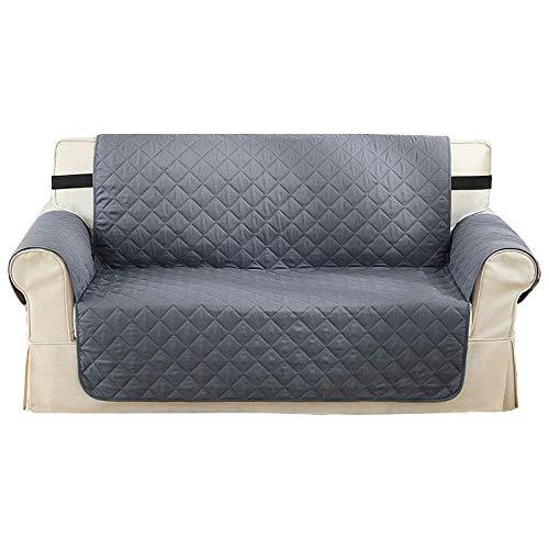 Cxypeng Furniture Sofa Protector,Wasserdichtes rutschfestes Haustier-Sofakissen, maschinenwaschbare Schutzhülle-grau_190x165cm, Schonbezug, Sofaüberwurf, Sofabezug