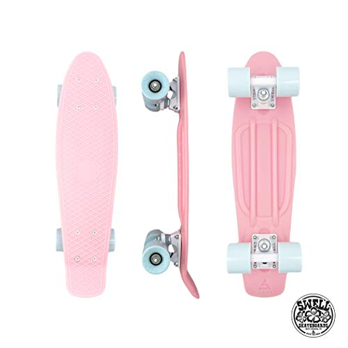 "Swell Skateboards Coral | 22 Inch Plastic Mini Cruiser for Kids, Teens and Adults | The Original ""Authentic"" Swell Cruiser Skateboard 