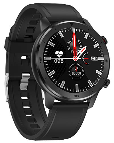 jpanwatch Smartwatch Orologio Fitness Uomo Donna Impermeabile 5ATM Smart Watch Cardiofrequenzimetro da Polso Bluetooth Smart Watch Activity Tracker Bambini Cronometro per Android iOS -Nero