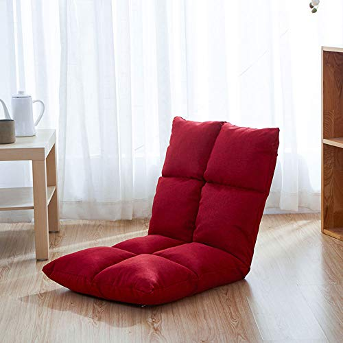 Reading Pillow Adjustable Floor Chair With Back Support,Comfortable Padded Foldable...