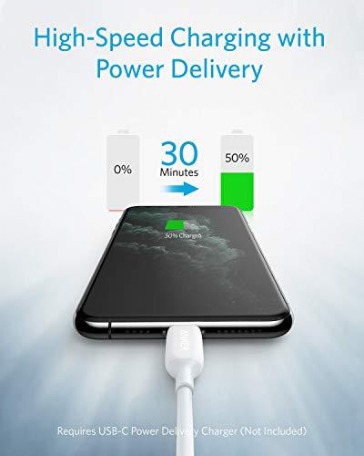 Anker PowerLine III MFi-zertifiziertes Ladekabel (90cm), blitzschnelles USB-C auf Lightning-Ladekabel für iPhone 11 Pro 11 Pro Max X XS XR Max 8 Airpods Pro, unterstützt Power Delivery (in Weiß)