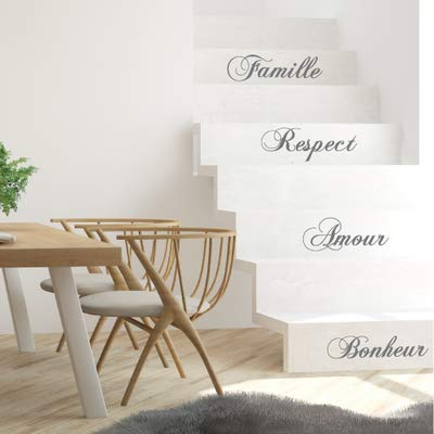 Sticker Escaliers - Famille- Lot de 4 Stickers (1m x 17 cm)