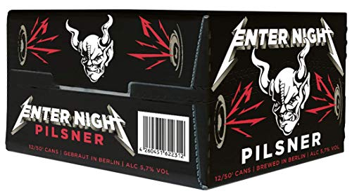 Stone Enter Night Pilsner Bier, in collaboration with METALLICA, EINWEG (12  x 0,5 Liter) inkl. 3,00 Euro DPG Pfand