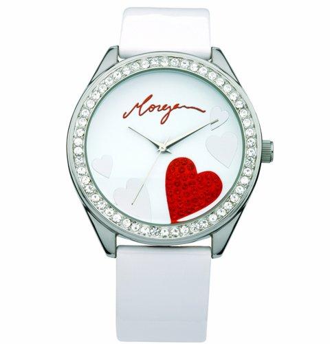 Morgan M1072R - Reloj de Mujer de Cuarzo Color Blanco