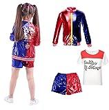 Abbigliamento per Bambini Bambina FancyDress CosplayCostume Outfit Coat Shorts T-Shirt Set...