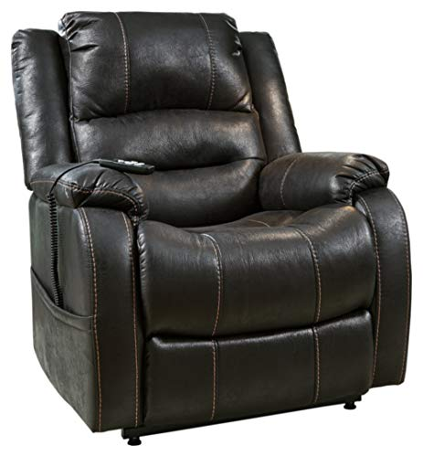 Ashley Signature Design Power Lift Recliner with faux Leather Upholstery