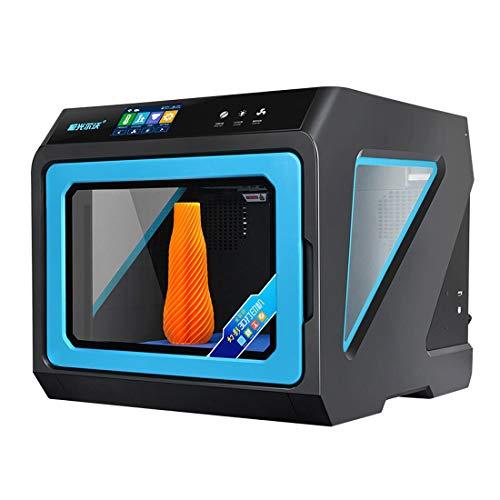 DACHENGJIN Impresora estereoscópica 3D JGAURORA A7 Placa de Metal de Alta precisión for Escritorio + Marco de moldeo por inyección Impresora 3D física Tridimensional (Negro)