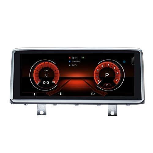 Navegador GPS estéreo Android 10 para coche compatible con BMW 3 Series 4 Series F30 F31 F32 F33 F34 F36 NBT System 8 Core 4GB RAM 128GB ROM con sistema iDrive retenido Pantalla táctil de 10,25 pu