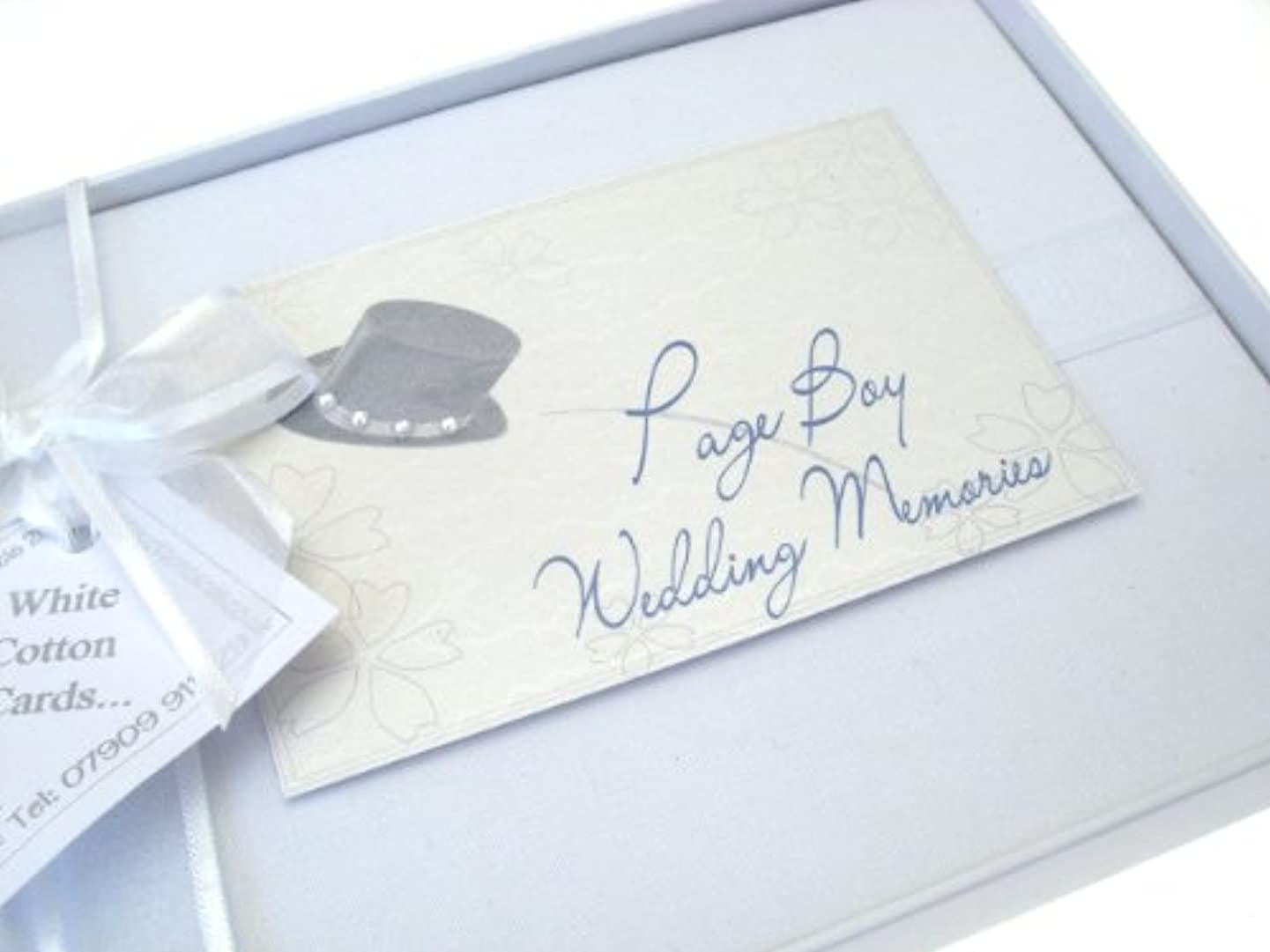 White Cotton Cards Page Boy Album, Small
