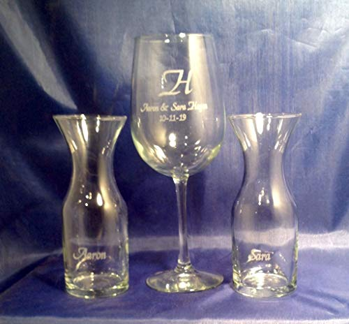 Wine Ceremony Glass & Carafe Set