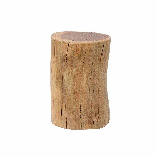 Pharao24 Beistelltisch als Baumstamm Akazie Massivholz