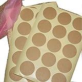 Egurs 120 Blanko Kraftpapier Aufkleber Craft Verpackung Dichtungen Aufkleber Vintage Stil braun Selbstklebend Label Papier Runde