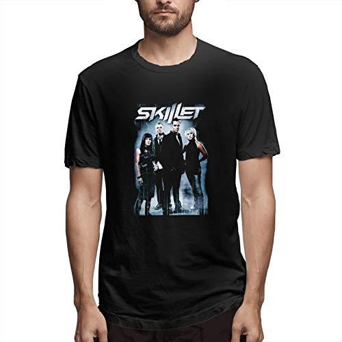MinaGKD Mens Sports Tshirt Sk-Ille-T Short Sleeve Running Cotton Tee3xl Black