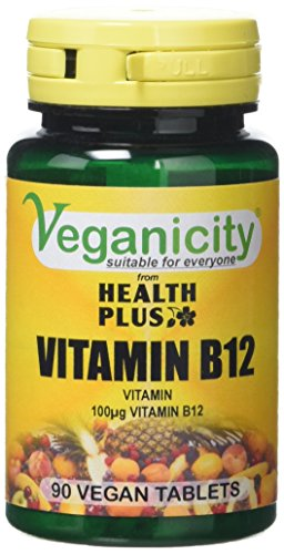 Veganicity Vitamin B12 100µg General Well-Being Supplement - 2 x 90 tabs