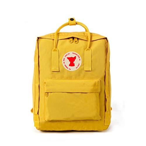 DDDWWW Lightweight Waterproof Backpack Outdoor Knapsack Hiking Camping Rucksack Unisex Laptop School Bag Casual Daypacks Large Yellow