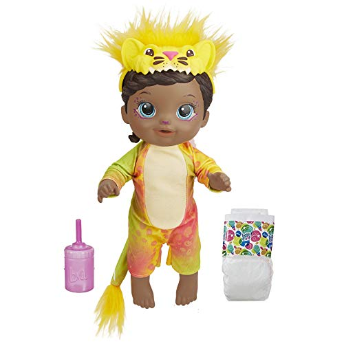 Baby Alive Rainbow Wildcats Doll, Lion, Accessories, Drinks, Wets, Lion Toy for Kids Ages 3 Years and Up, Black Hair (Amazon Exclusive)
