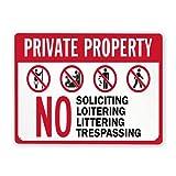 Letreros de metal,Prohibido solicitar,merodear,tirar basura o...
