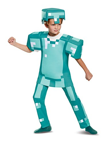Armor Deluxe Minecraft Costume, Blue, Large (10-12)