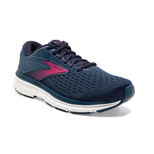 Brooks Womens Dyad 11 Running Shoe - Blue/Navy/Beetroot - 2E - 8.5