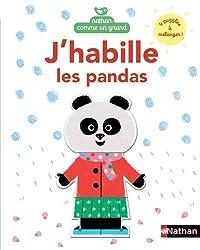 J'habille les pandas livres bébé pour jouer et apprendre