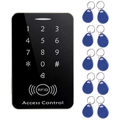 M203SE RFID standalone touchscreen toegangscontrole kaartlezer met 10st toetsen zwart