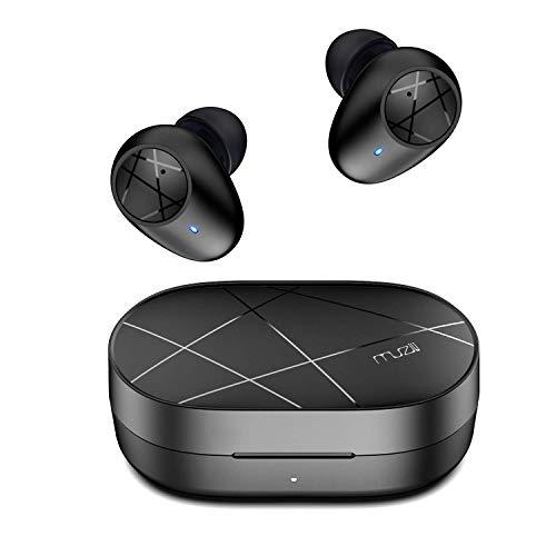 Muzili Auriculares Inalámbricos, Bluetooth 5.0 Auriculares Deportivos Control Táctil Auriculares Bluetooth Impermeables 20H Tiempo de Reproducción Micrófono Incorporado para iOS, Huawei, Samsung