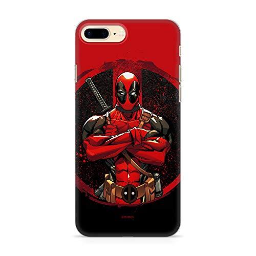 Estuche para iPhone 7 Plus/8 Plus Marvel Deadpool Original con Licencia Oficial, Carcasa, Funda, Estuche de Material sintético TPU-Silicona, Protege de Golpes y rayones