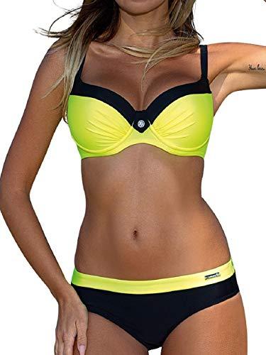 Voqeen Tops de Bikini Mujer Push-up Trajes de baño Dos Piezas Sexy Bikini Sets Mujer Ropa de Baño Ropa de Dos Piezas Adecuado Viajes Playa