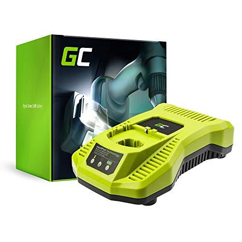 Green Cell Cargador (18V Li-Ion, Ni-MH, Ni-CD) para Ryobi R18CK4A-252S R18CK5-LL25P R18CK9-252S R18CK9-55P R18CS R18CS-0 R18CS-L40S R18CS7-0 R18CSP-0 batería