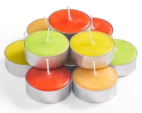 Exquizite - Juego de 64 velas aromáticas para meditación, chakra, jazmín, 3 a 4 horas, velas de té para vacaciones, bodas, fiestas y hogar
