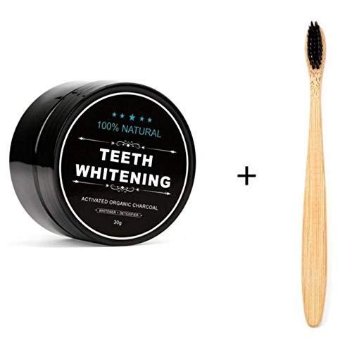 Cris Teeth Whitening Polvere, Organico Naturale Carbone Attivo Di Bambù Dentifricio