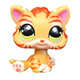 LPSCB Custom-Made Baby for Short Hair Cat #1451 Striped Orange Tiger 1 Inch Kitty Mini Pet Shop Toys