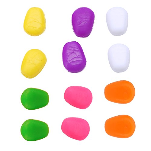 Alomejor Weiche Angelköder, Mais, geruchlos, schwimmend, für Karpfenangeln, Zubehör, Werkzeug (10 Stück in 6 Farben)
