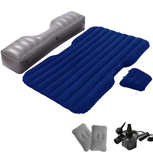 kalili 車内泊 エアーベッド エアーマット アウトドア用 収納便利 多機能 枕付き ポンプ付き (ブルー)