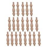 BQLZR H-81 haya madera inacabada Craft Spindles Wood Spindle Balaustre para muebles Inicio Reparaci¨n paquete de decoraci¨n de 20