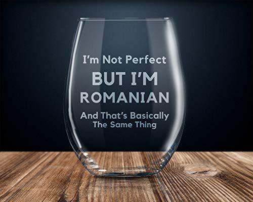 Roemeense Gift voor Roemeense Roemeense Trots Roemeense Vlag Roemeense Wijnglas Trots Roemeens i Liefde Roemeense Grappige Poolse Gift