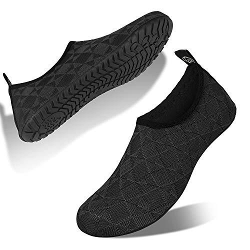 IceUnicorn Buty kąpielowe, męskie, damskie, buty do pływania, buty plażowe, buty do wody, buty do wody, unisex, na lato, do surfowania, - Lt D szary - 40/41 EU