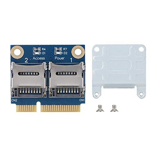 Socobeta Mini Tarjeta adaptadora Mini PCI-E PCI-e a Tarjeta de Memoria Compatibilidad...