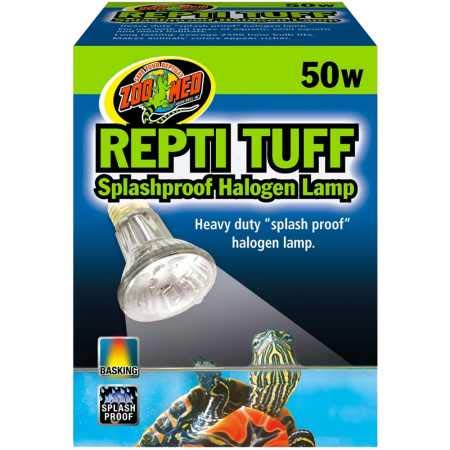 Zoo Med Turtle Tuff halogeenlamp, voor waterschildpads, spatwaterbestendig, 50 Watt